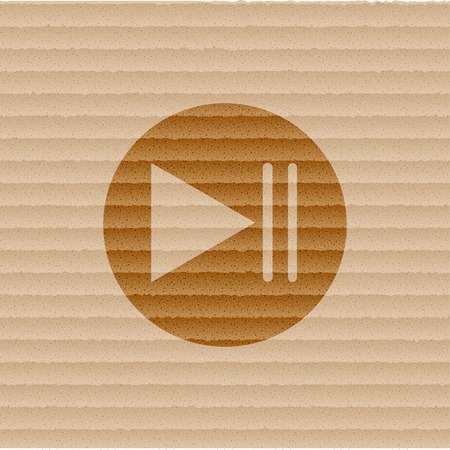 Play and pause button web icon. Flat design. photo