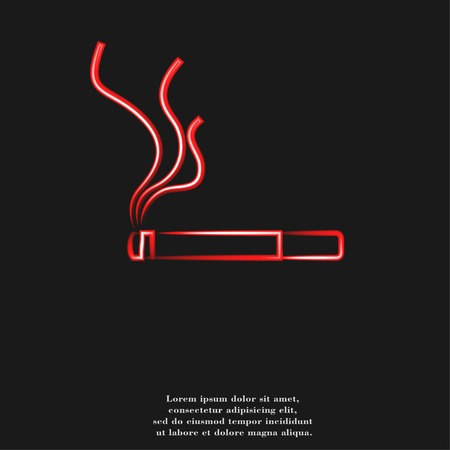 Smoking sign. cigarette icon. flat design with abstract background. photo