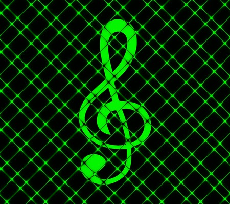 treble clef icon. Flat with abstract background. photo