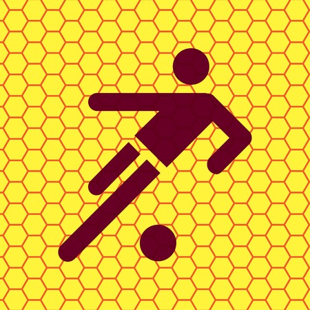 Soccer players icon. Football. Flat with abstract background. photo