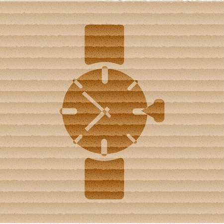 Watch,clock. icon Flat with abstract background. photo