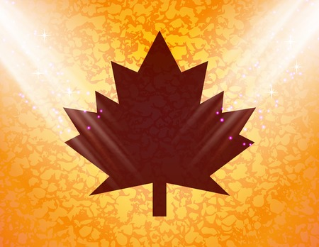 maple Leaf icon Flat with abstract background. photo