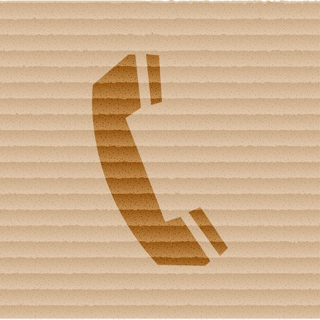 phone icon Flat with abstract background. photo