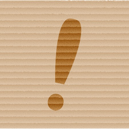 interjection: The exclamation point icon Flat with abstract background. Stock Photo