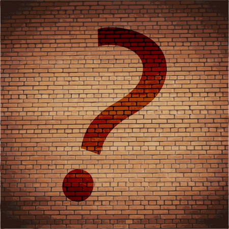 question mark icon Flat with abstract background. photo