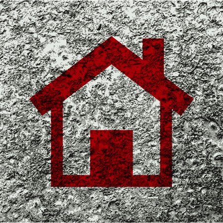 home. house icon Flat with abstract background. photo