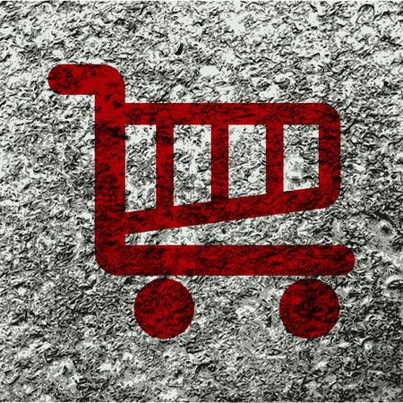 shopping basket: Shopping basket icon Flat with abstract background. Stock Photo