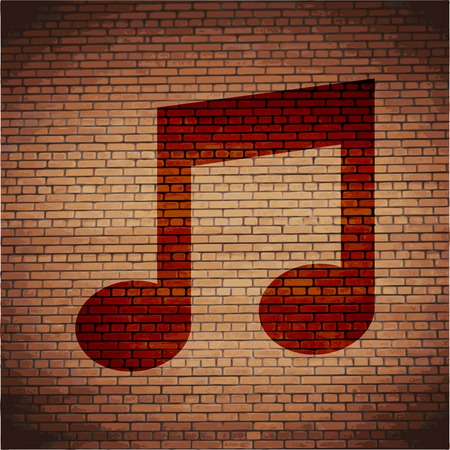 Music Notes Icons Flat with abstract background. photo