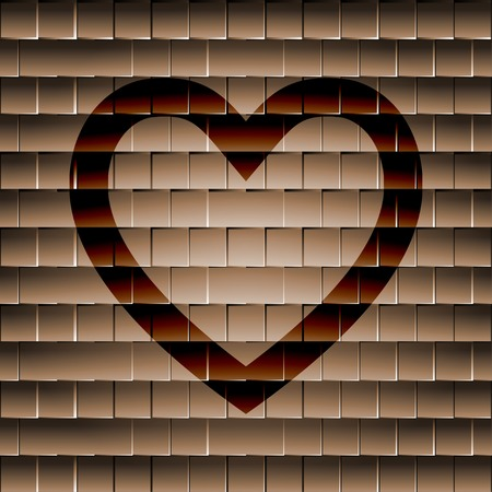 Heart icon Flat with abstract background. photo