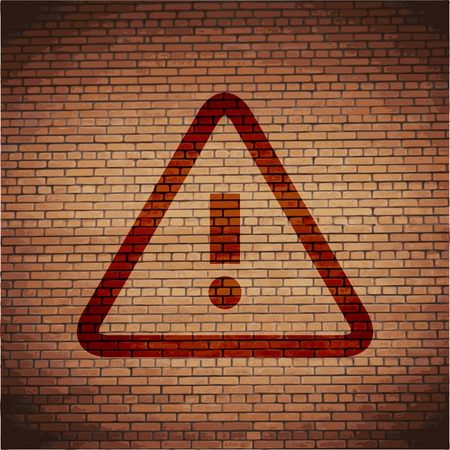 importance: danger. exclamation mark icon flat design with abstract background.