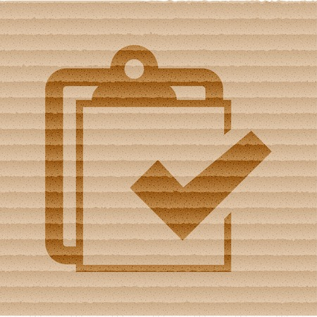Notepad paper Documents icon flat design with abstract background. photo