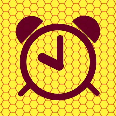 alarm clock icon Flat with abstract background. photo