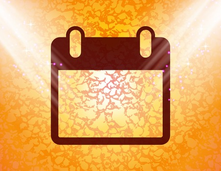 Calendar organizer icon Flat with abstract background. photo