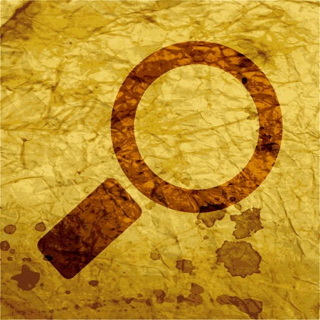 Search Icon. magnifier Flat with abstract background. photo