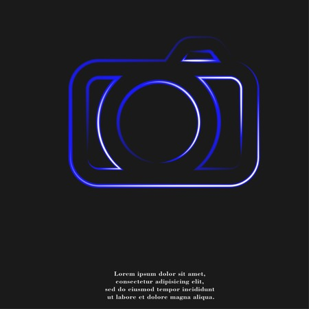 Camera icon Flat with abstract background. photo