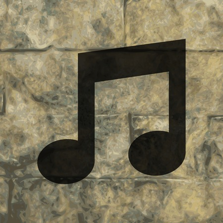 crotchets: Music Notes Icons Flat with abstract background.