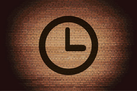 Watch icon Flat with abstract background. photo