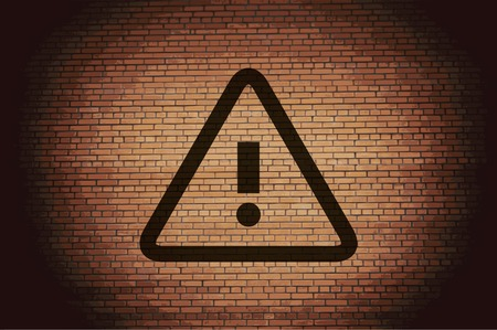 danger. exclamation mark icon flat design with abstract background. photo