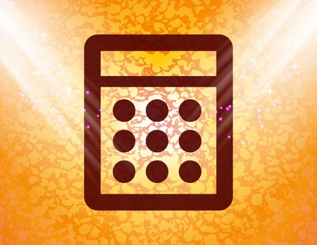 calculator icon flat design with abstract background. photo