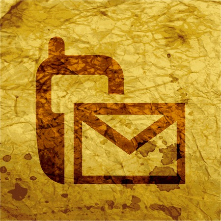 Sms icon flat design with abstract background. photo