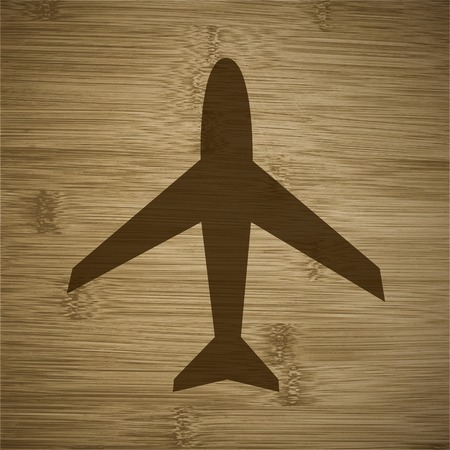 Plane icon flat design with abstract background. photo
