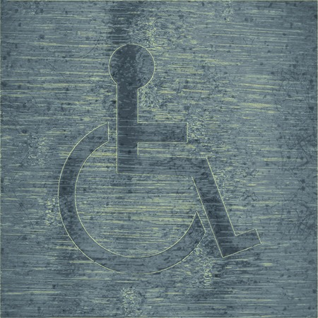 disabled. Flat modern web button and space for your text. .  photo