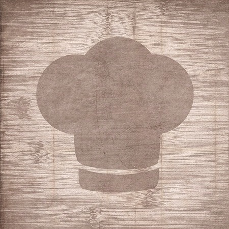 cook out: Chef cap. Cooking Flat modern web button and space for your text. .  Stock Photo