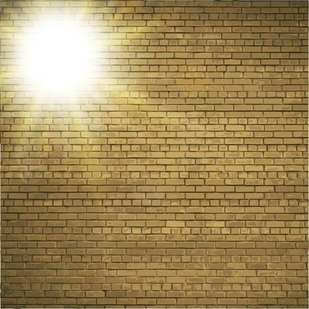brick background: Astratto sfondo di mattoni. effetti di luce sfocata. Vettoriali