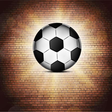 Soccer ball icon, flat design. Vector illustration. Vector