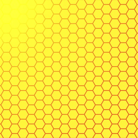 summer background: Abstract honeycomb background.  blurry light effects.