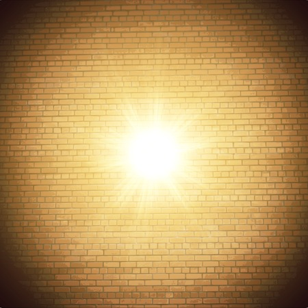 Abstract brick background.  blurry light effects. Vector. EPS10 Vector