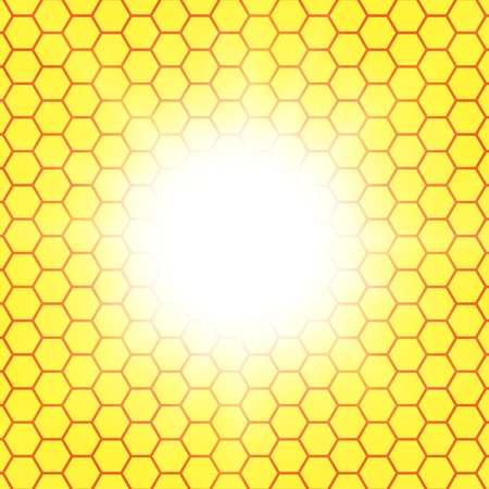 semitransparent: Abstract honeycomb background.  blurry light effects.