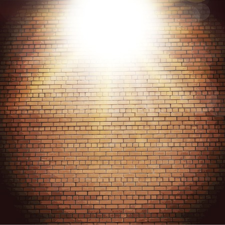 Abstract brick background.  blurry light effects.