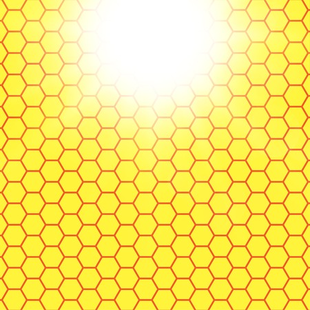 Abstract honeycomb background.  blurry light effects.