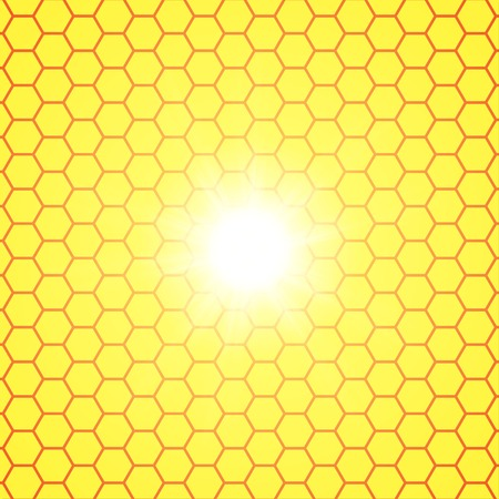 semitransparent: Abstract honeycomb background.  blurry light effects. Vector. EPS10 Illustration