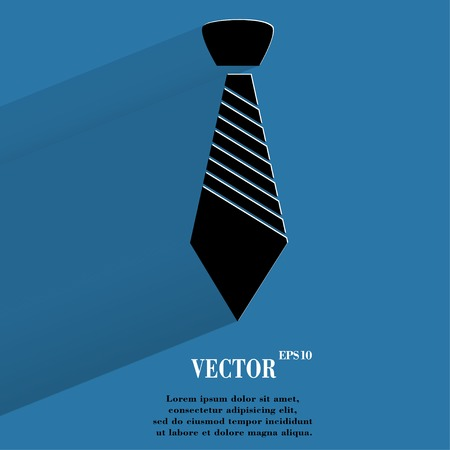 dress code: Hipster tie. Flat modern web button with long shadow and space for your text.