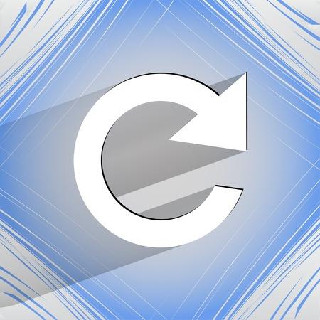 arrow Update. Flat modern web design on a flat geometric abstract background Vector.   Vector