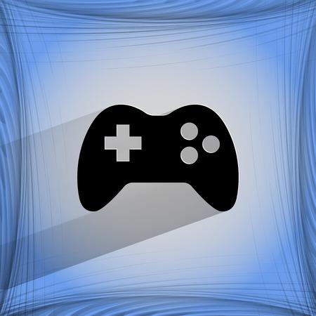 joy pad: Gaming Joystick. Flat modern web design on a flat geometric abstract background Vector.