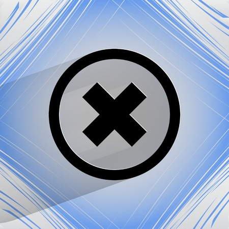 disagree: cancel. Flat modern web design on a flat geometric abstract background Vector.