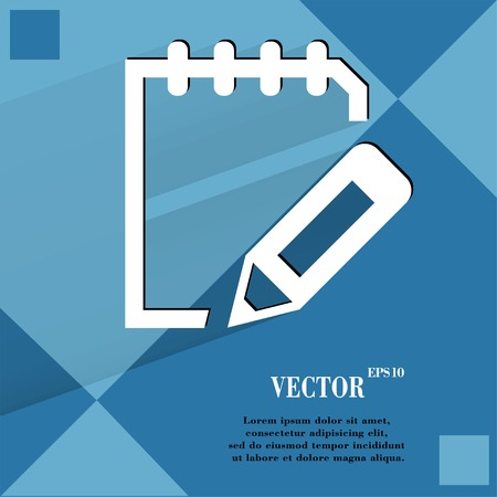 folio: Notepad paper Documents. Flat modern web design on a flat geometric abstract background Vector.