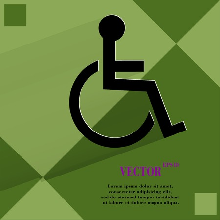 disabled. Flat modern web design on a flat geometric abstract background Vector.   Vector