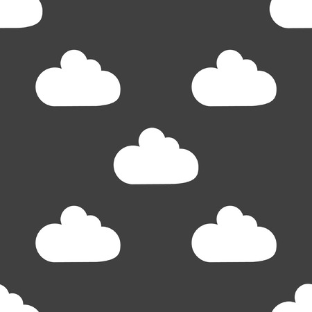 Cloud download application web icon. Seamless pattern.  Vector