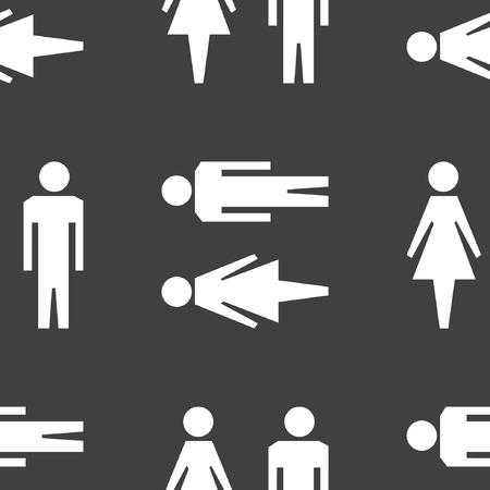 hommes et femmes: les hommes, les femmes ic�ne de web design plat. Motif gris transparent.