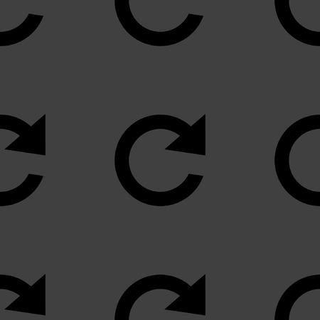 arrow Update web icon. flat design. Seamless pattern.  Vector