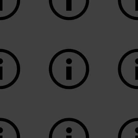 info web icon. flat design. Seamless pattern. Vector