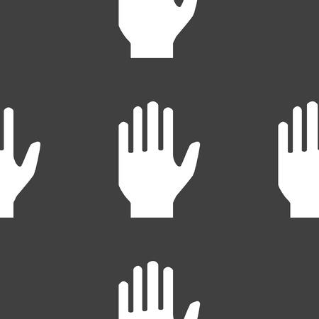 area restringida: icono de web mano. dise�o plano. Patr�n sin fisuras. Vectores