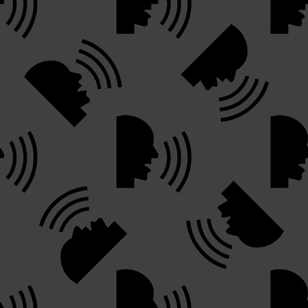 aloud: talking web icon. flat design. Seamless pattern.