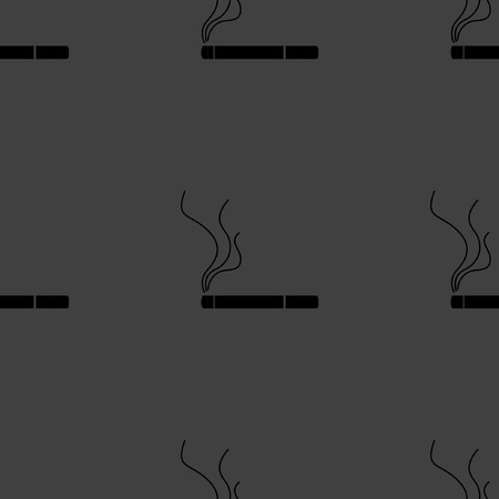 interdiction: Smoking sign. cigarette flat design. Seamless gray pattern.