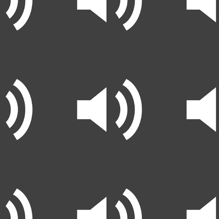 mute: Speaker web icon flat design. Seamless pattern.  Illustration