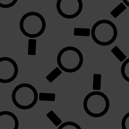 Search magnifier web icon.  flat design. Seamless pattern.  Vector